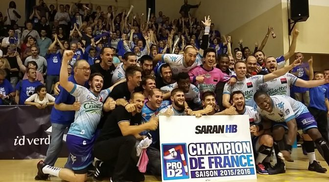 Handball : Saran HB sacré champion de France de Pro D2 passe en Ligue Nationale de Handball
