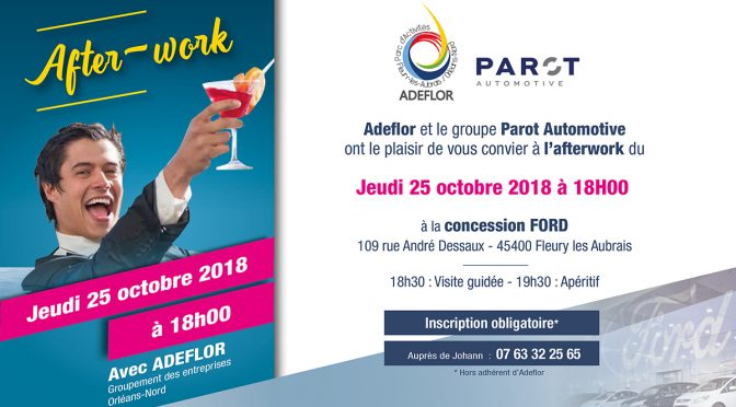 After-Work Adeflor, à ne pas manquer – 18 H le 25 octobre